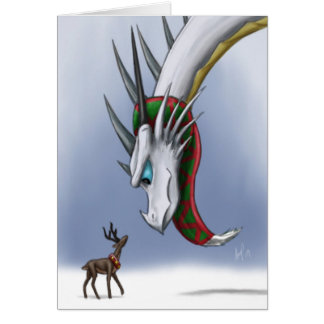Dragon & Reindeer Notecard