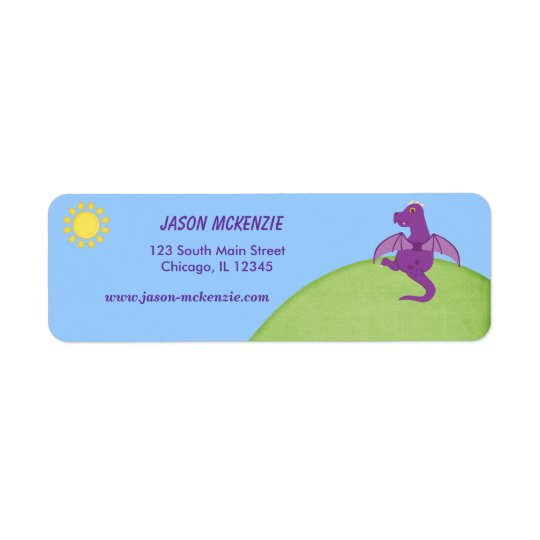 Dragon Return Address Label