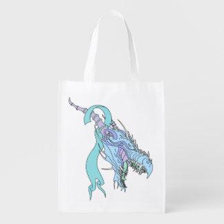 Dragon Ribbon Grocery Bag