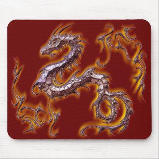 dragon rojo fuego mouse pad