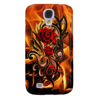 dragon rose of love samsung galaxy s4 cases