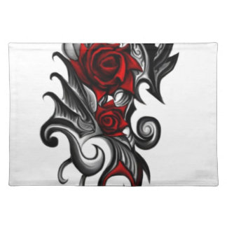 dragon rose placemat