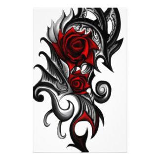 dragon rose stationery