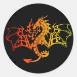 Dragon Round Stickers