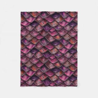 Dragon Scales - Fushia Fleece Blanket