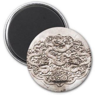 Dragon Sculpture Drawing Magnet