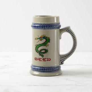 Dragon,Seed,China,Chinese,Barware,Beer Jug Beer Stein
