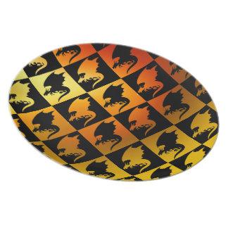 Dragon Silhouette Dinner Plate