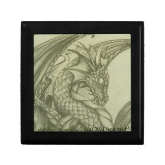 Dragon Sketch Small Square Gift Box