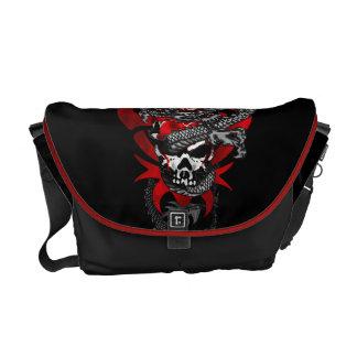 Dragon Skull Messenger Bag - Medium