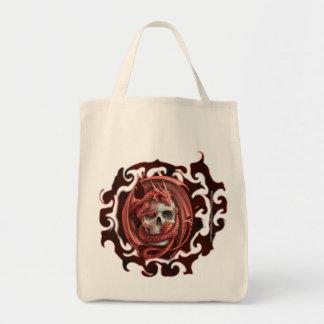 Dragon Skull - Organic Grocery Tote
