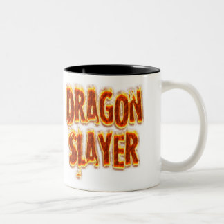 Dragon Slayer Fire Two-Tone Coffee Mug