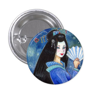 Dragon Smile Geisha Mini Button