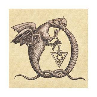 Dragon Snake Sulphur Mercury Symbols Canvas Print