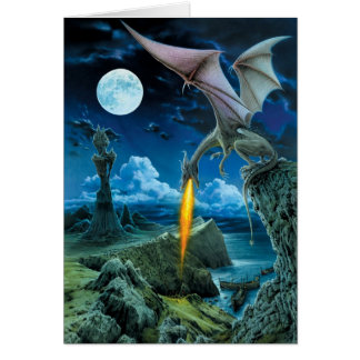 Dragon Spit Greeting Card