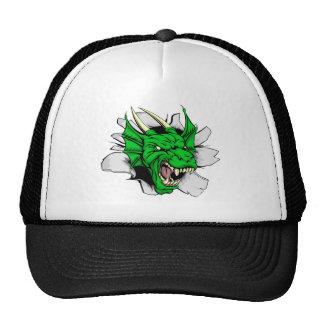 Dragon sports mascot breakthrough trucker hats