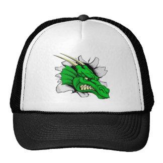 Dragon sports mascot breakthrough mesh hats