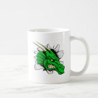 Dragon sports mascot breakthrough coffee mug