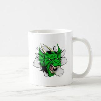 Dragon sports mascot breakthrough mug