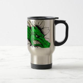 Dragon sports mascot breakthrough coffee mugs