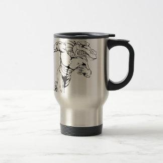 Dragon sports mascot running coffee mug