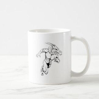 Dragon sports mascot running mug