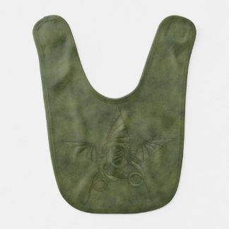 Dragon Star - Embossed Green Leather Image Bib