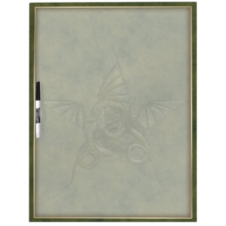 Dragon Star - Embossed Green Leather Image Dry-Erase Boards