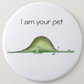 Dragon stretched out on the floor 6 cm round badge