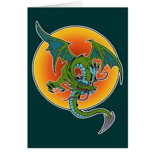 Dragon Sun Card
