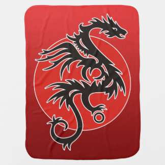 Dragon Sun Power - black red white + your ideas Buggy Blanket