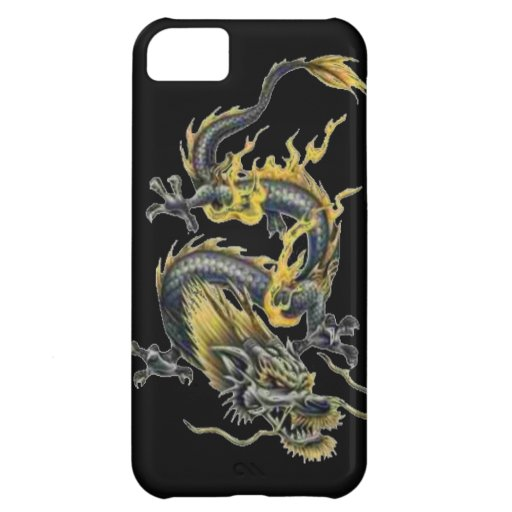 Dragon tattoo art cool fantasy creature fire iPhone 5C cover