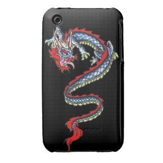 Dragon tattoo art cool fantasy creature fire iPhone 3 cases