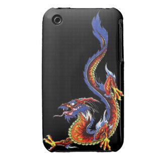 Dragon tattoo art cool fantasy creature fire iPhone 3 Case-Mate case