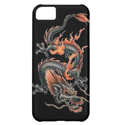 Dragon tattoo art cool fantasy creature fire cover for iPhone 5C