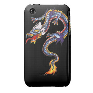 Dragon tattoo art cool fantasy creature fire iPhone 3 cases