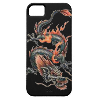 Dragon tattoo art cool fantasy creature fire iPhone 5 cover