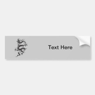 Dragon Tattoo Fantasy Fiction Drawing Cartoon Art Bumper Sticker