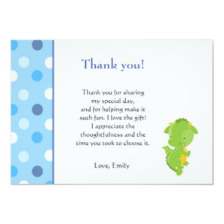 Dragon Thank You Card Note