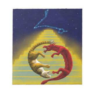 Dragon Tiger Constellation Notepad
