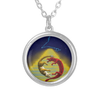 Dragon Tiger Constellation Silver Plated Necklace