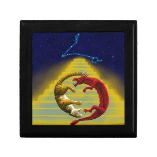 Dragon Tiger Constellation Small Square Gift Box