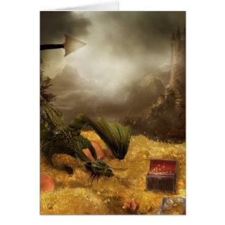 Dragon Treasure Note Card