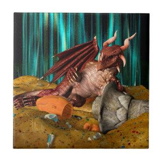 Dragon Treasure Small Square Tile