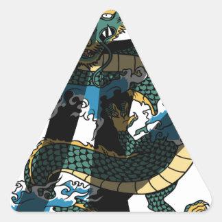 Dragon Triangle Sticker