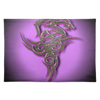Dragon tribal sign ocult scarry placemat