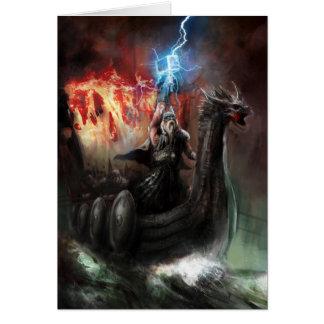 Dragon Viking Ship Greeting Card