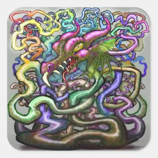 Dragon Vines Square Sticker