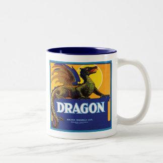 Dragon Vintage Crate Label Mug