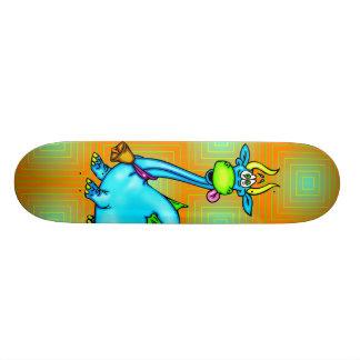 Dragon Wearing A Bell Skate Board Deck
